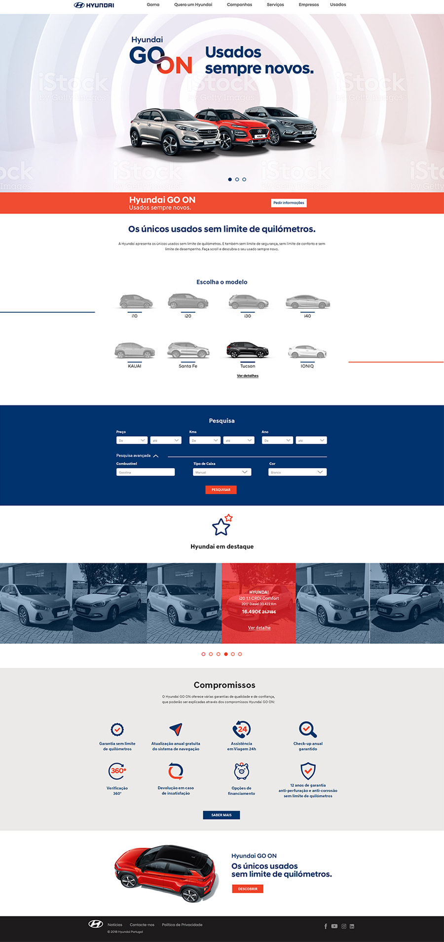 Landing Page Hyundai