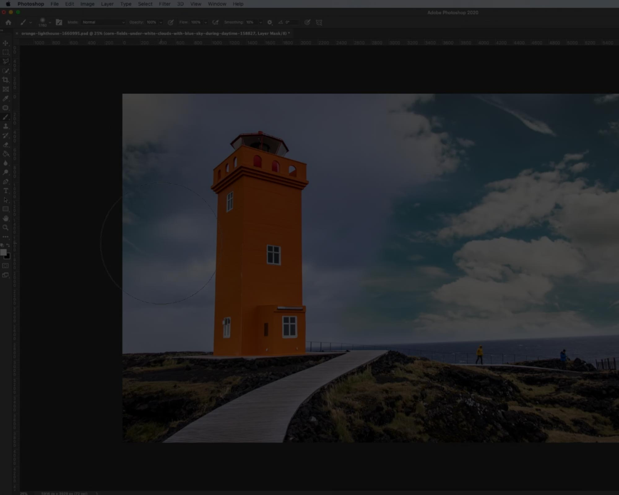How to create layer masks in 2 minutes in Photoshop!