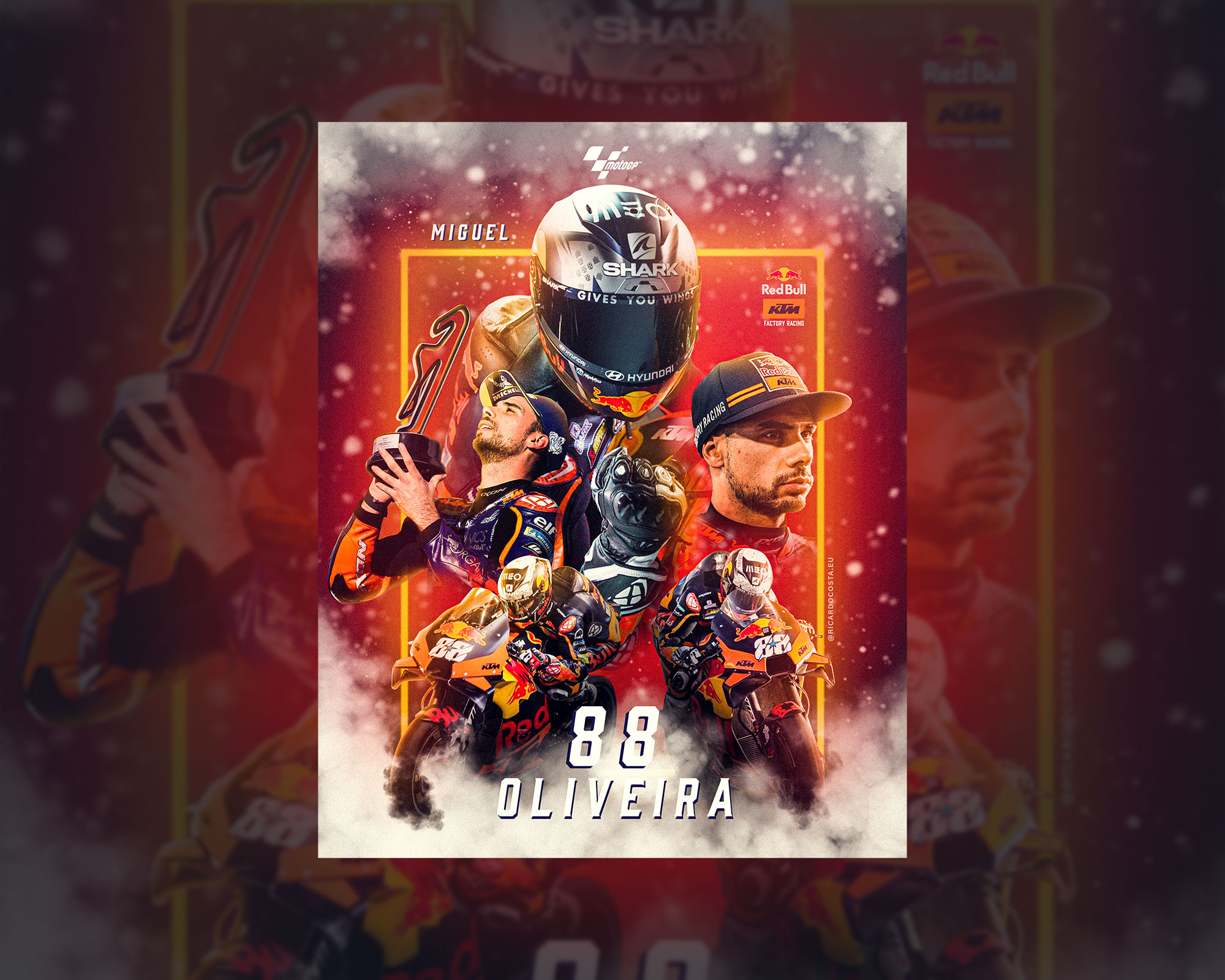 MotoGP Miguel Oliveira Speedart Photoshop